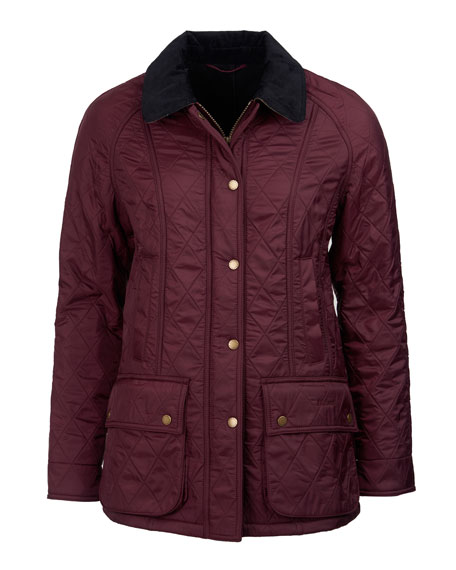 Barbour Beadnell Diamond Polar-Quilt Jacket, Navy