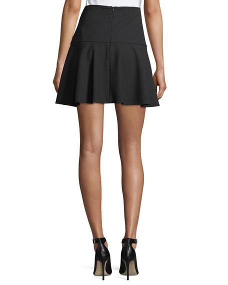 Cady Fit-&-Flare Miniskirt