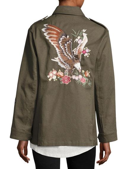 Gabardine Utility Jacket w/ Embroidery