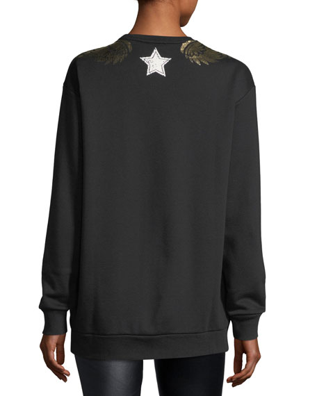 Sweatshirt w/ Gold Lamé Wings