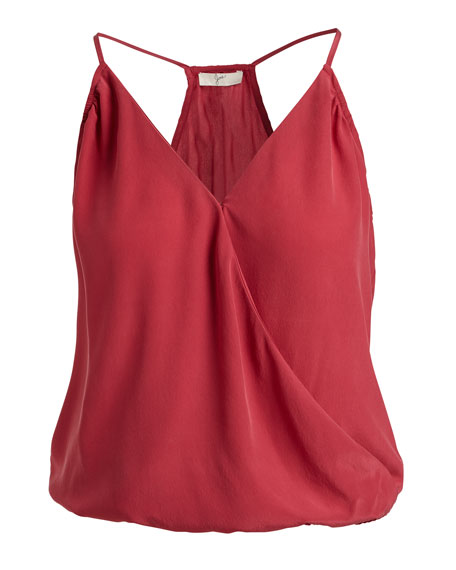 Abriella Surplice Camisole Top, Red