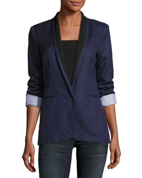 Joie Amit One-Button Jacket, Blue