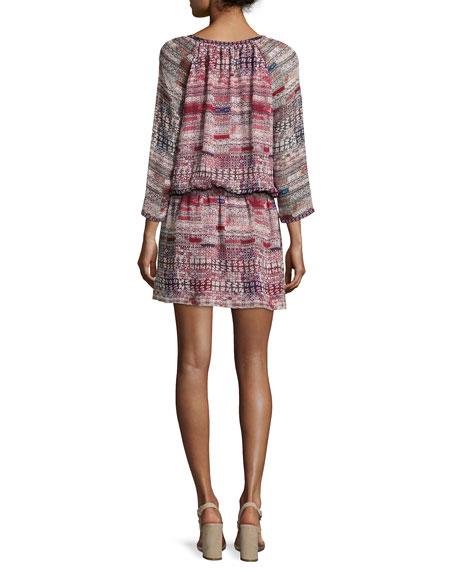 Aili Blouson Mini Silk Dress