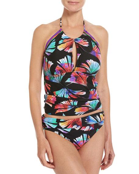 Your 1 Fan Hi-Neck Tankini Swim Top, Multi