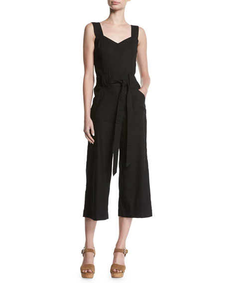 7 For All Mankind Culotte Sleeveless Belted Linen