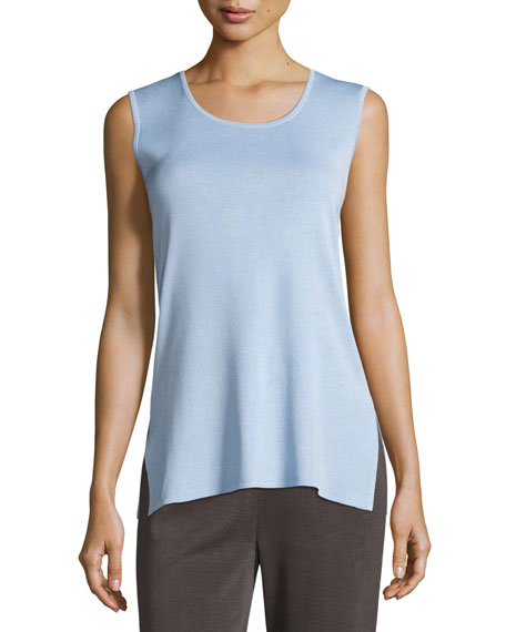 Scoop-Neck Long Knit Tank