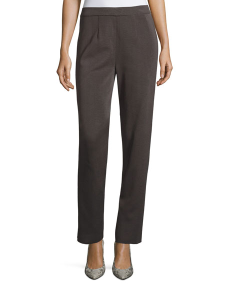Misook Straight-Leg High-Rise Pants, Plus Size