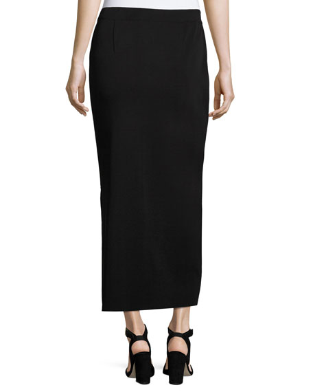 Long Straight Knit Skirt, Plus Size
