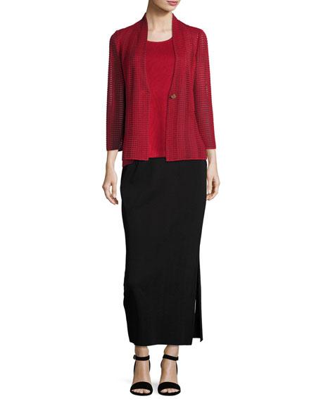 Long Straight Knit Skirt, Plus Size