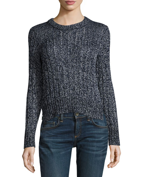 Rag & Bone Adira Marled Cable Knit Crewneck