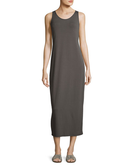 Eileen Fisher Scoop-Neck Sleeveless Jersey Long Dress