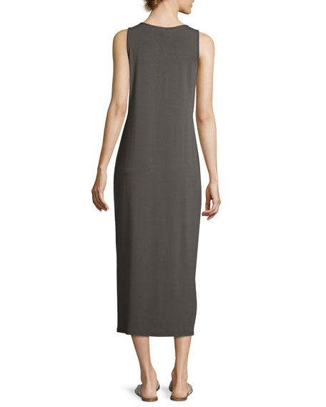 Sleeveless Scoop-Neck Midi Dress, Petite