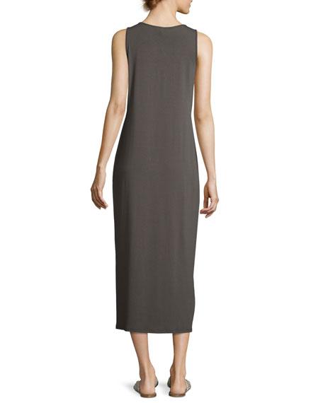 Sleeveless Scoop-Neck Midi Dress, Petite