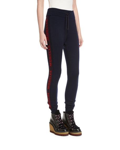 Moncler Logo Sport Drawstring Jogger Pants