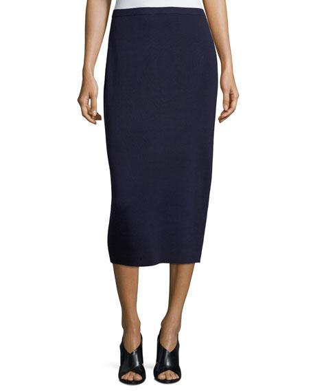 Eileen Fisher Washable Silk/Cotton Midi Pencil Skirt, Petite