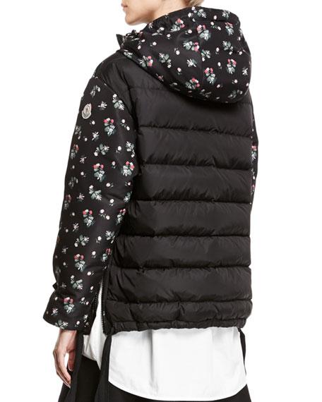 Mirtus Floral Hooded Combo Jacket