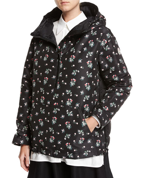 Moncler Mirtus Floral Hooded Combo Jacket