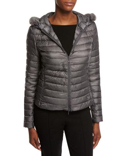 Sorbus Fur-Hood Puffer Jacket