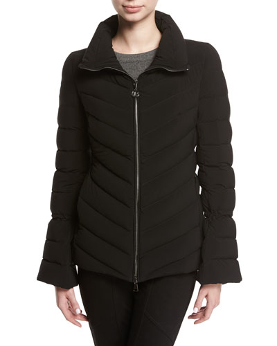 Solanum Quilted Puffer Jacket, Black