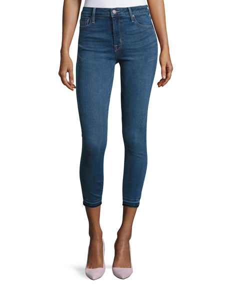 Bombshell Cropped Skinny Jeans, Medium Blue