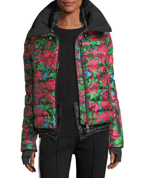 Vonne Floral-Print Quilted Puffer Jacket