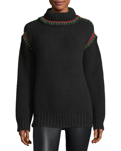 Maglione Sweater with Stitching