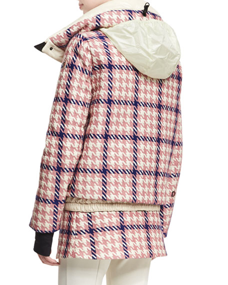 Flaine Houndstooth Hooded Jacket