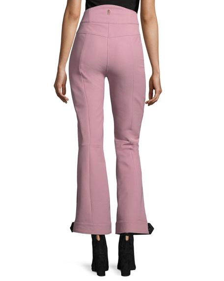 Front-Seam High-Waist Flared Pants