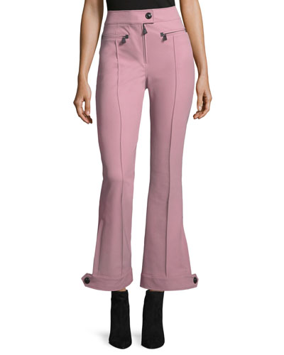 Front-Seam High-Waist Flared Pants