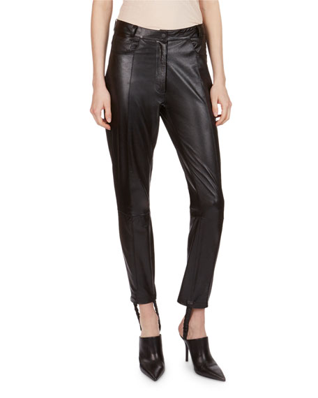 Magda Butrym Benson Leather Stirrup Pants