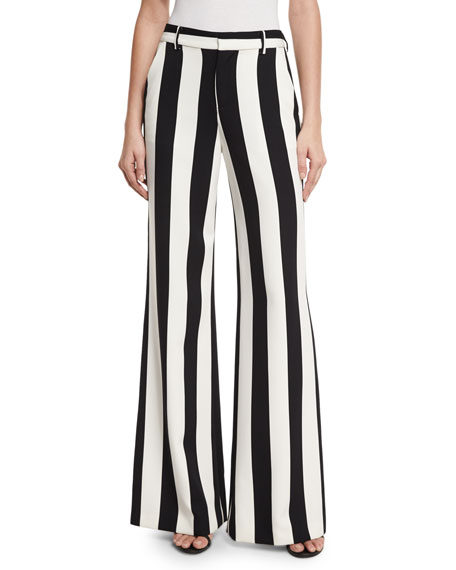 Paulette Striped Wide-Leg Pants