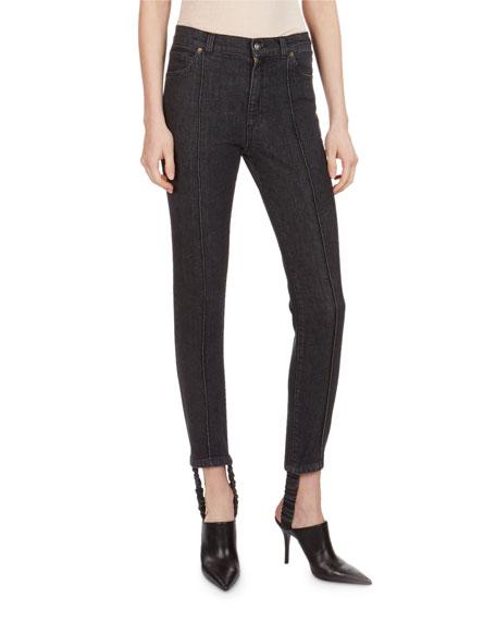 Magda Butrym Benson High-Waist Skinny Stirrup Jeans and