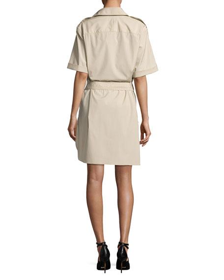 Aerona Oversize-Collar Trench Dress