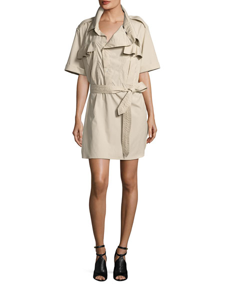 Burberry Aerona Oversize-Collar Trench Dress