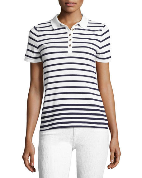 Burberry Ausa Short-Sleeve Striped Polo
