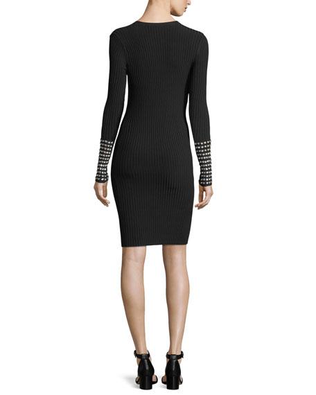 Embellished Long-Sleeve Dress