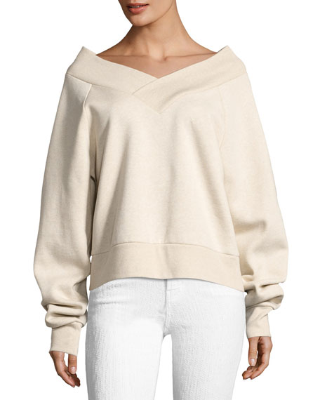 Burberry Falacho V-Neck Long-Sleeve Sweatshirt