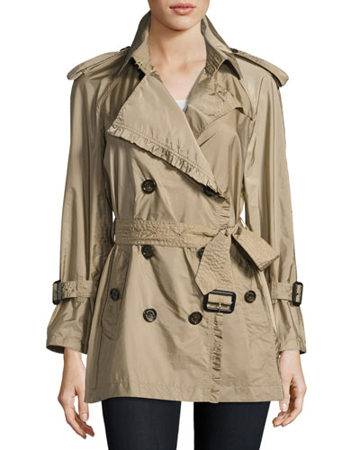 Ombersley Packaway Ruffled Rain Trench Coat
