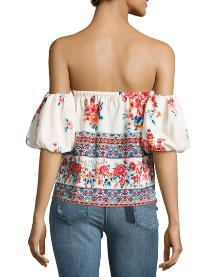 Renata Floral-Print Off-the-Shoulder Top
