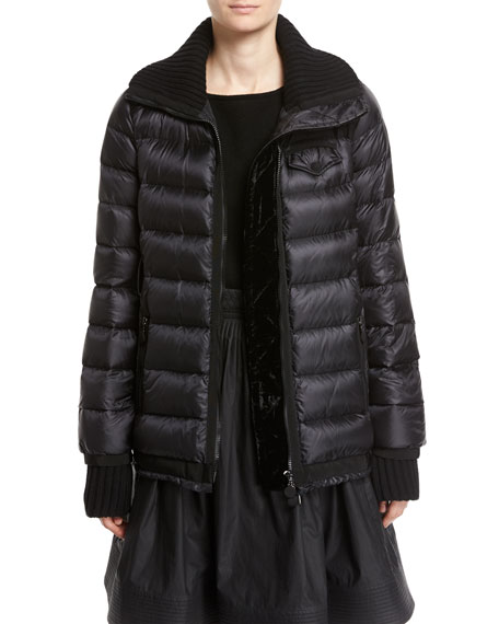 Karen Quilted Puffer Coat, Black
