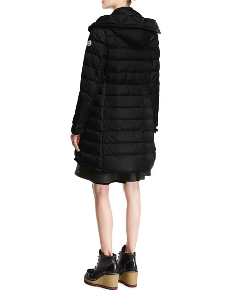 Christabel Quilted Puffer Coat, Black