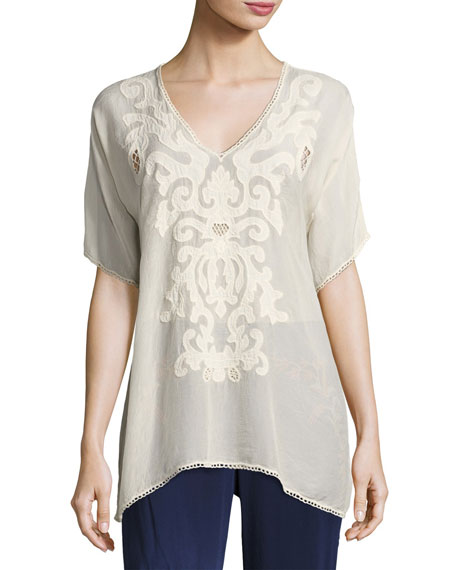Harley V-Neck Georgette Blouse, Plus Size