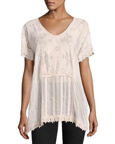 Stargaze Flare Top W/ Lace Trim
