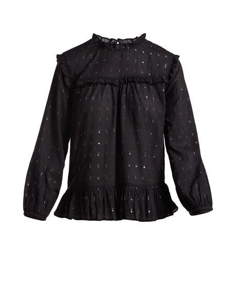 Gianella Long-Sleeve Poplin Blouse