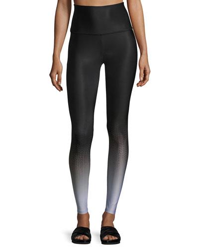 Fade To Black High-Waist Full-Length Leggings, Black Pattern
