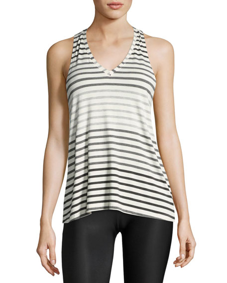 Beyond Yoga Bring It Ommmbre Striped Racer Tank