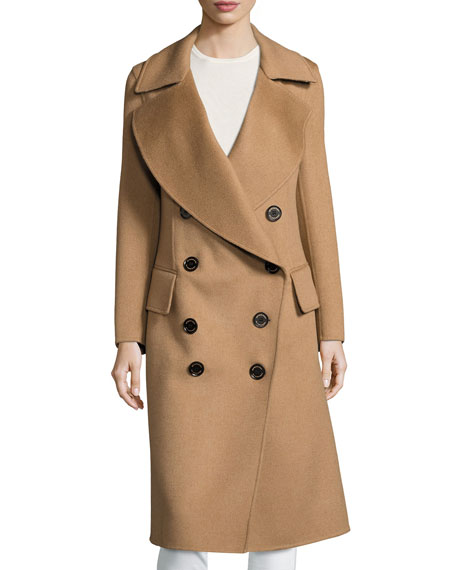 Burberry Camelhair Oversized Pea Coat