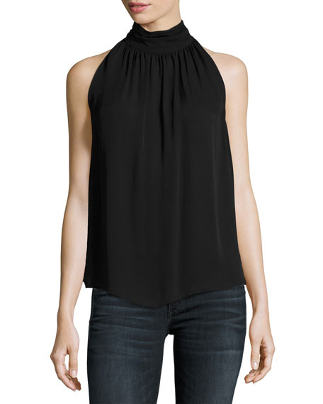 Joie Erola Sleeveless Silk Top, Black