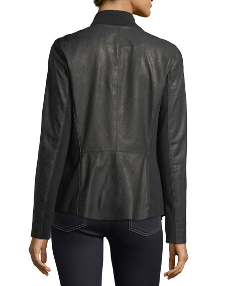 Aimes Weathered Lambskin Moto Jacket