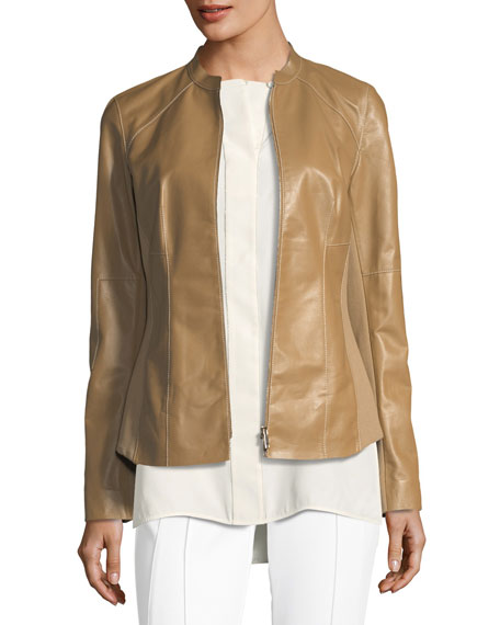 Lafayette 148 New York Embla Lambskin Leather Jacket